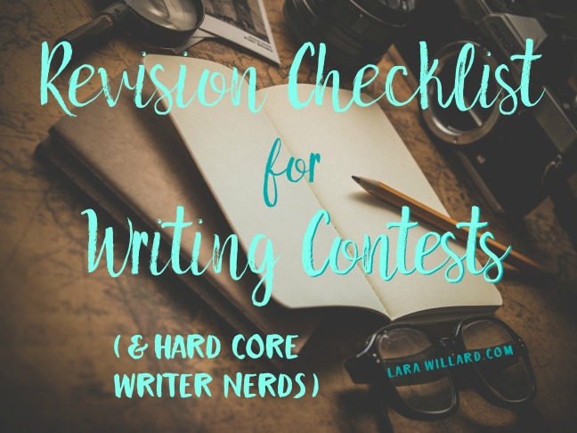 Revision Checklist for Writing Contests (and hard-core writer nerds)